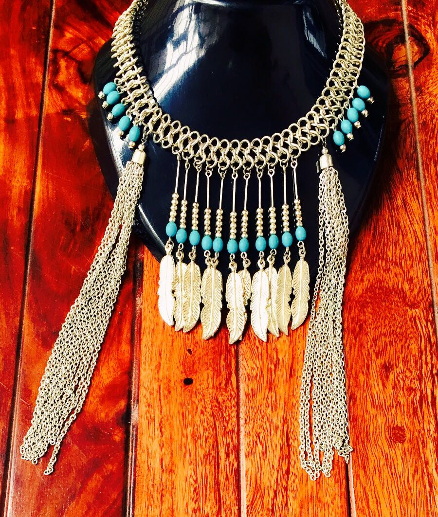 Bohemian-Statement-Necklace-With-Long-Chain-Tassels-01