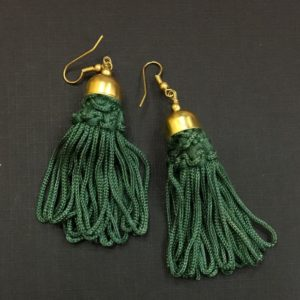 Deep-Green-Tassel-Earrings-01