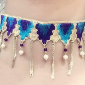 Designer-Lace-Choker-With-Dropping-Chains-01