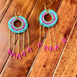 Long-Dangle-Chain-Beads-Earrings-Blue-Pink-01