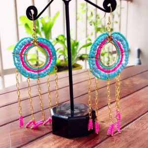 Long-Dangle-Chain-Beads-Earrings-Blue-Pink-02