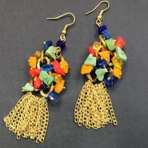 Metal-Tassel-Multicolored-Stones-Earrings-01