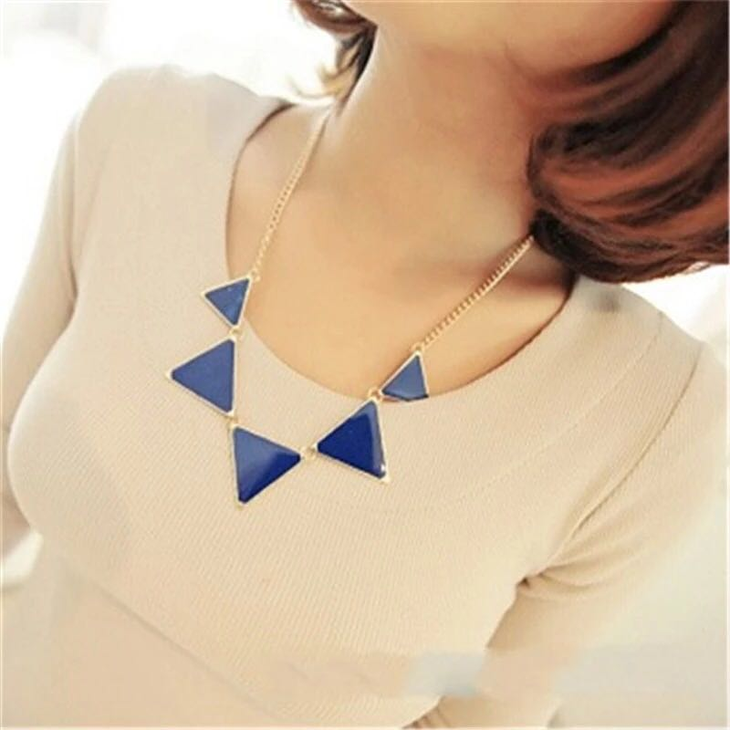 Triangle-Punk-Collar-Necklace-Blue