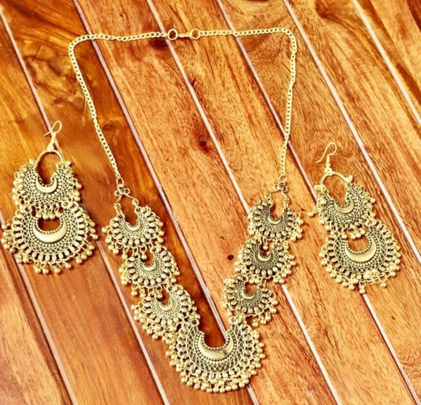 Afghani-Oxidised-Silver-NecklaceSet-With-Chandbalis-Antique-Gold-01