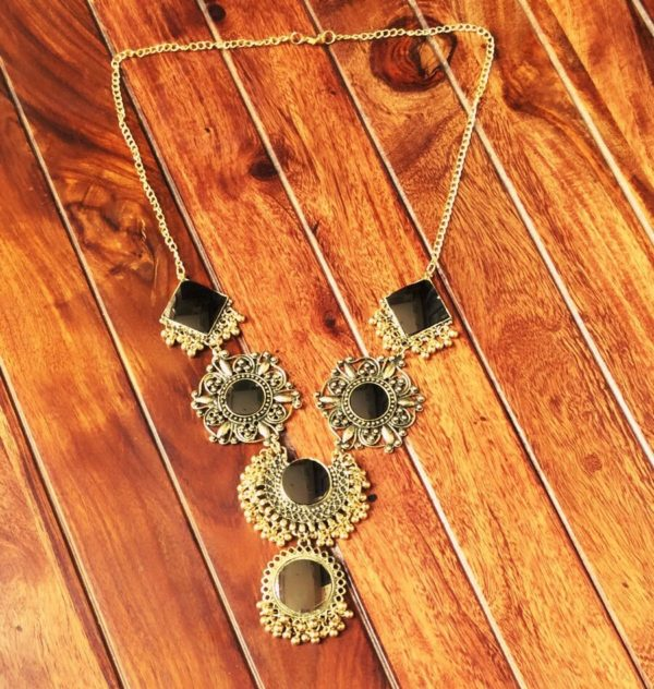 Afghani-Oxidised-Silver-NecklaceSet-With-Mirrors-Antique-Gold-01