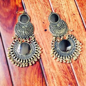 Afghani-Oxidised-Silver-NecklaceSet-With-Mirrors-Antique-Gold-03