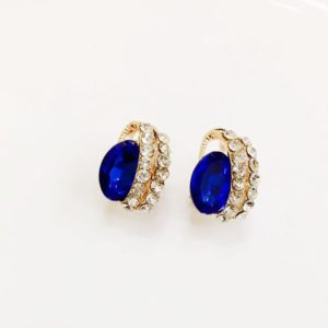 Big-Crystal-With-White-Stones-Stud-Earrings-Blue