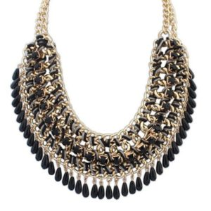 Bohemian-Knitted-Statement-Necklace-Black