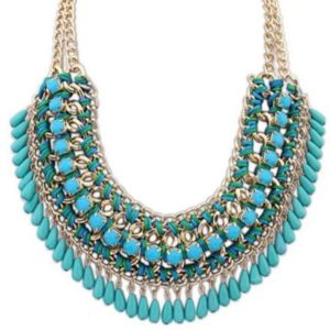 Bohemian-Knitted-Statement-Necklace-Blue