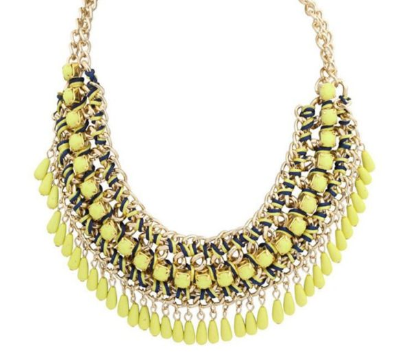 Bohemian-Knitted-Statement-Necklace-Yellow