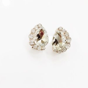 Crystal-Drop-With-Stones-Stud-Earrings-White-01