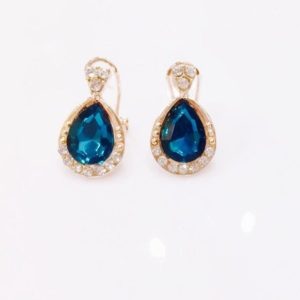 Crystal-Drop-With-White-Stones-Stud-Earrings-Blue-01