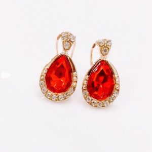 Crystal-Drop-With-White-Stones-Stud-Earrings-Red-02
