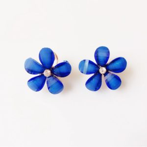 Deep-Blue-Floral-Party-Stud-Earrings-01