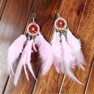 Dream-Catcher-Feather-Earrings-Baby-Pink-01