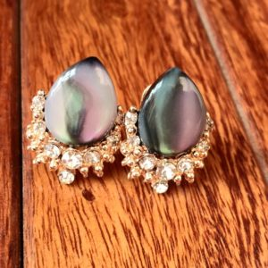 Drop-Shape-Big-Stone-Party-Stud-Earrings-Multicolored