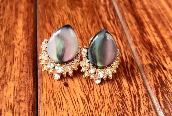 Drop-Shape-Big-Stone-Party-Stud-Earrings-Multicolored