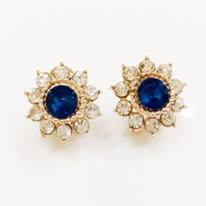 Floral-Party-Stud_Earrings-Aqua-Blue