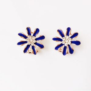 Floral-Party-Stud_Earrings-Deep Blue-01