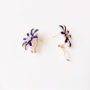 Floral-Party-Stud_Earrings-Deep Blue-03