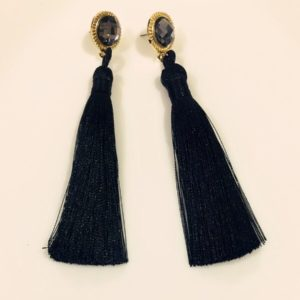 Hot-Long-Silk-Tassel-Earrings-Black-01