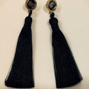 Hot-Long-Silk-Tassel-Earrings-Black-02