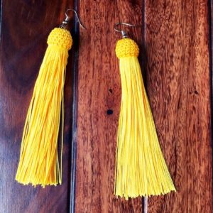 Long-Tassel-Earrings-Woven-Top-Yellow-01