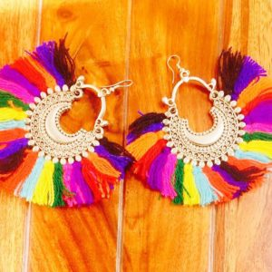 Multicolour-Wool-Tassel-Fan-Style-Earrings-With-Chandbalis-02
