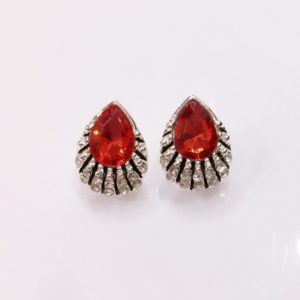 Red-Crystal-Drop-With-Stones-Stud-Earrings-01