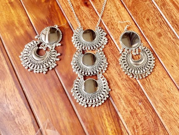 Silver-Oxidized-Three-Layered-Necklace-Set-Silver-02