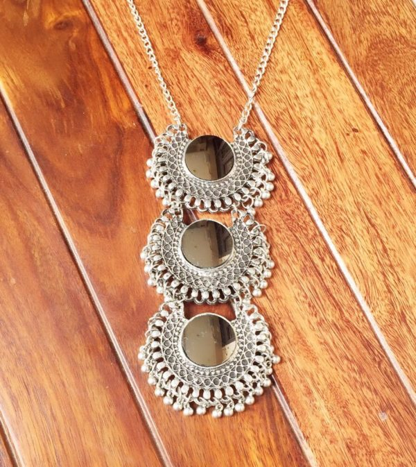 Silver-Oxidized-Three-Layered-Necklace-Set-Silver-04