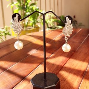 Silver-Wings-With-Stones-Pearl-Drop-Earrings-01