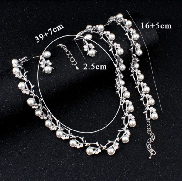 Simulated-White-Pearl-Necklace-Set-Silver-02