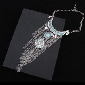 Turquoise-Silver-Metal-Tassel-Necklace-01