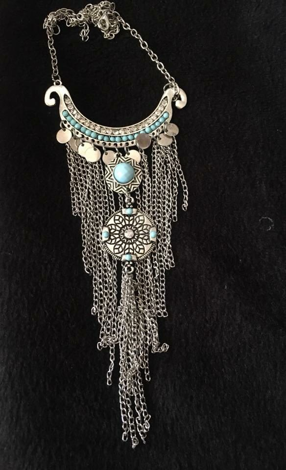 Turquoise-Silver-Metal-Tassel-Necklace-02