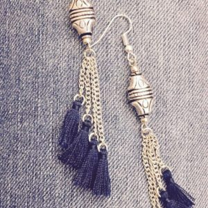 Deep-Blue-Tassels-With-Charms-Earrings-01