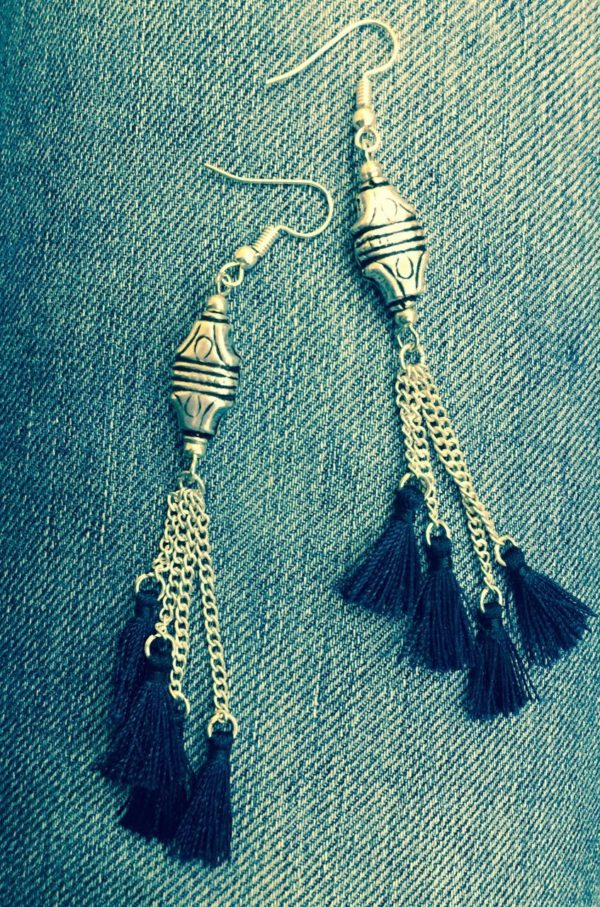 Deep-Blue-TasselsWith Charms-Earrings-02