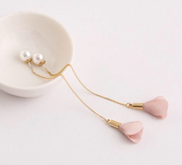Long-Chain-Two-Side-Floral-Pearl-Earrings-Pink-02