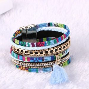 Multicolored-Multilayered-Tassel-Bracelet-With-Magnet-Lock-02