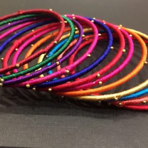 Multicoloured-Silk-Thread-Bangles-Set