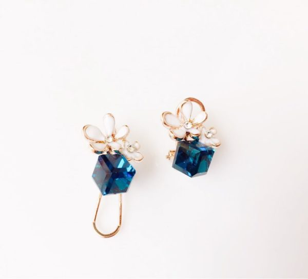 Deep-Blue-Crystal-Cube-Floral-Party-Stud-Earrings-01