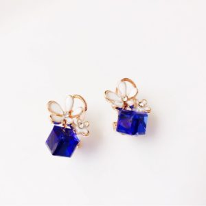 Deep-Blue-Crystal-Cube-Floral-Party-Stud-Earrings-03