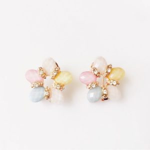 Five-Petals-Rhinestones-Party-Stud-Earrings-Multicoloured-01