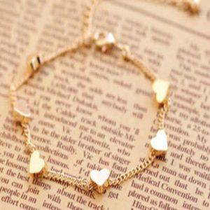 Golden-Chain-Bracelets-Moon-Hearts-02