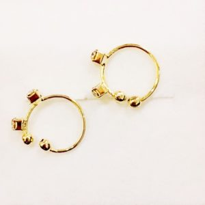 Golden-Ear-Clips-With-Stones
