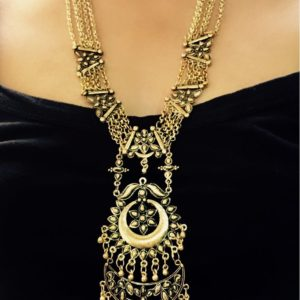 Long-Statement-Kareena-Oxidised-Silver-Necklace
