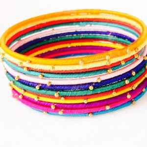 Multicoloured-Silk-Thread-Bangles-Set-Design-02