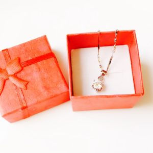 White-Crystal-Silver-Pendant-Chain-Necklace