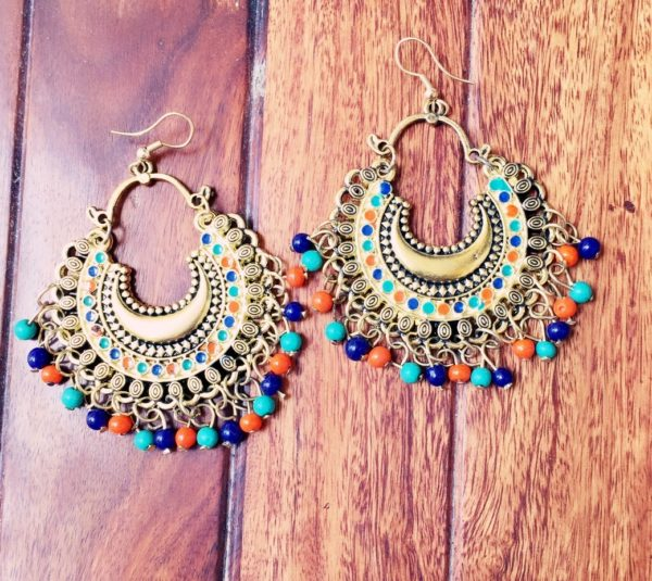 Antique-Gold-Chandbalis-With-Multicoloured-Beads-01
