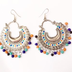 Silver-Chandbalis-With-Multicoloured-Beads-01